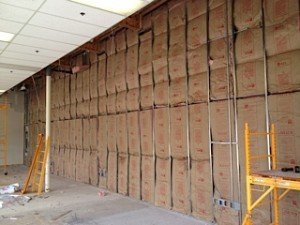 Wall steel stud with insulation